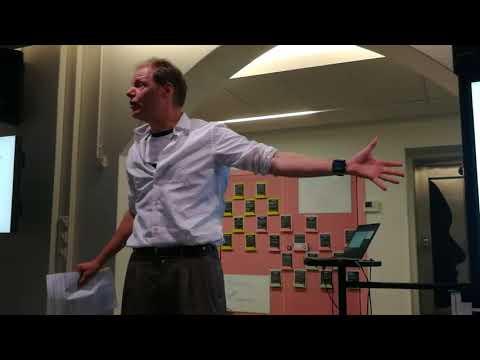 Edward Boileau speaks at the Quiske indoor rowing workshop