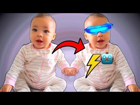 Baby Sister Transforms into Robot!