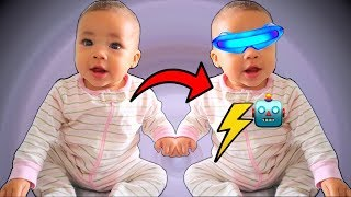 Baby Sister Transforms into Robot!