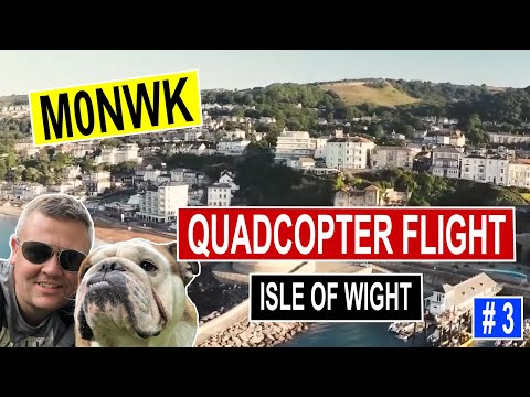 Aerial film of Ventnor, Isle of Wight using quadcopter / drone