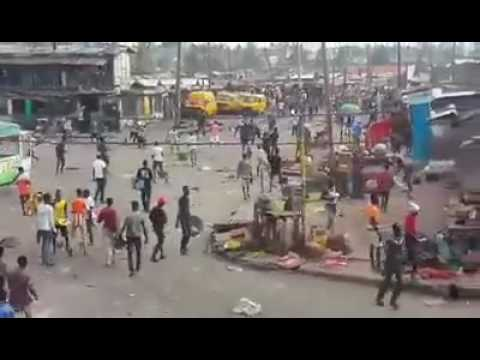 What Street Riot Looks Like In Lagos Boundary Ajegunle 2 Youtube
