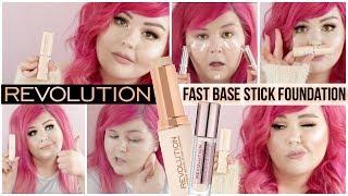 Makeup Revolution Fast Base Stick Foundation   Review + Wear Test