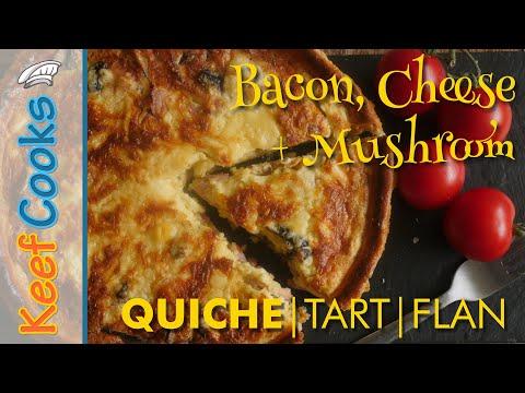 Bacon, Mushroom And Cheese Quiche/Tart/Flan