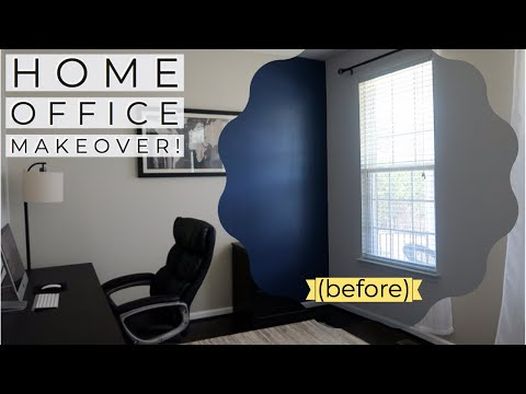 HOME OFFICE MAKEOVER / DIY HOME OFFICE MAKEOVER