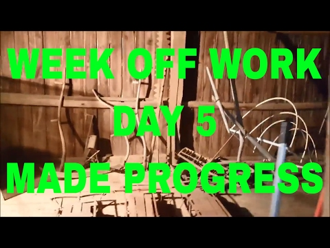 Week Off Work Day 5 - S.O.S., Barn, Closet, and Cards