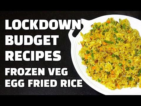 Frozen Veg Egg Fried Rice - Budget Recipes - LockDown Recipes - Spicy Veg Rice - Youtube