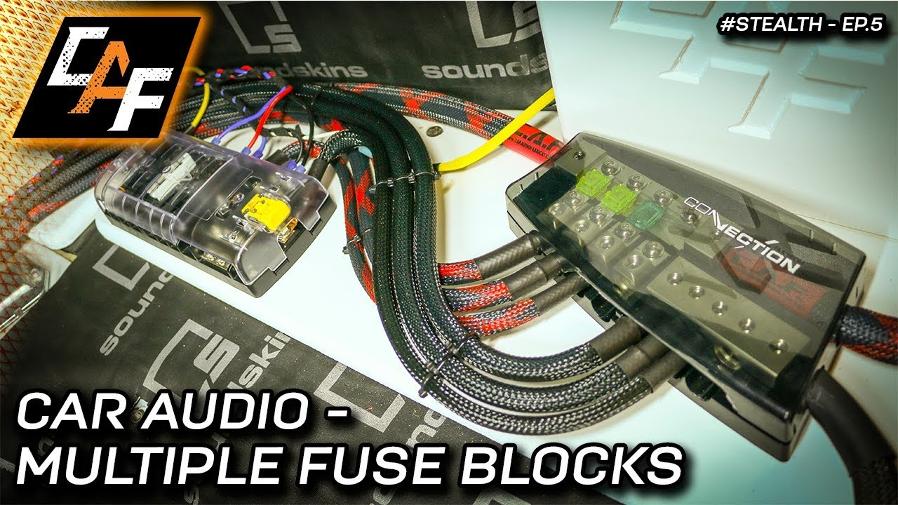 advanced car audio wiring - multiple fuse blocks - project ... car audio wiring block high performance car audio wiring