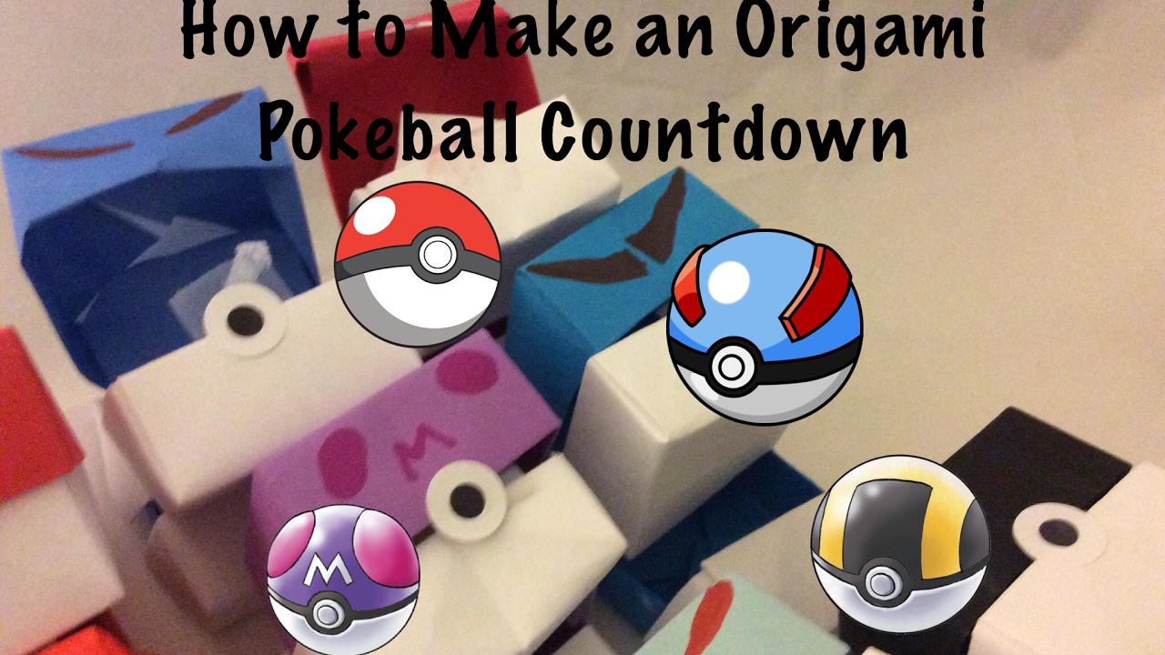 how to make an origami pokeball countdown youtube