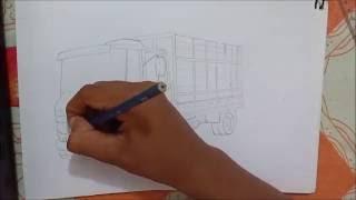 Desenhando Caminhão  608 boiadeira