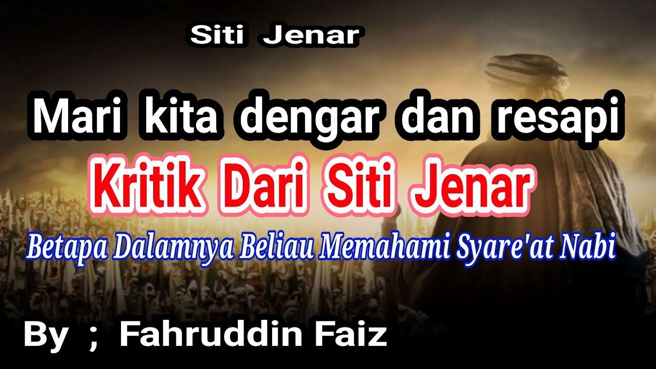 Ilmu Tasawuf Siti Jenar 2 Ustd Fahruddin Faiz Youtube