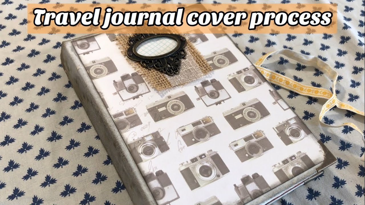 making a travel journal cover ep3 covering a readers digest book