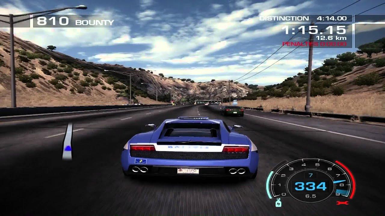 need for speed hot pursuit gameplay lamborghini gallardo lp 560 4 police car pc hd. Black Bedroom Furniture Sets. Home Design Ideas