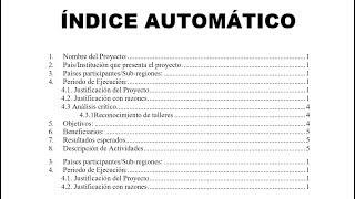 Índice automático en word thumbnail