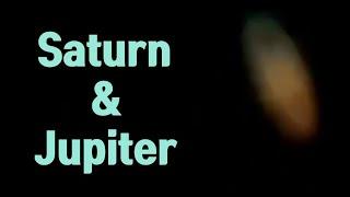 천체망원경으로 토성,목성 관측 Saturn,Jupite…