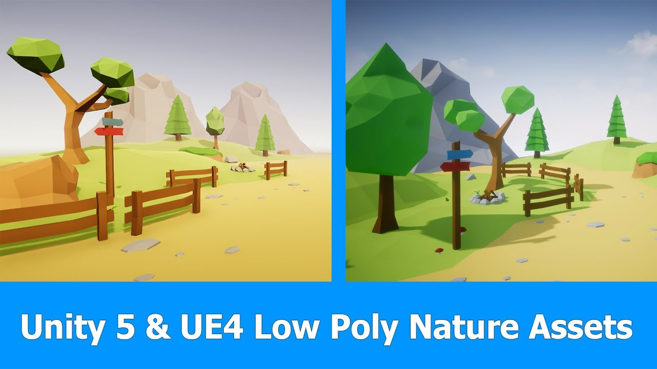 Unity and Unreal Engine 4 : Lowpoly Nature Assets