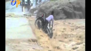 An Youngster Sinks Into Water With His Bike In Madhya Pradesh