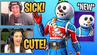 Cloakzy and His GF React to the *NEW* Slushy Soldier Skin! - Fortnite Best and Funny Moments