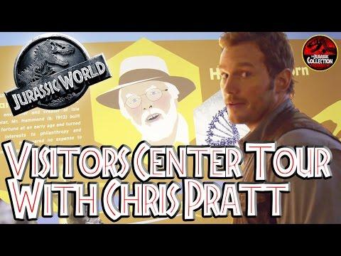 Jurassic World | VISITORS CENTER TOUR WITH CHRIS PRATT | Behind the Scenes