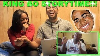 "Couple Reacts : King Bo ""I FOUGHT MY TEACHER AND GOT SLAPPED BY SATAN"" Reaction!!!"