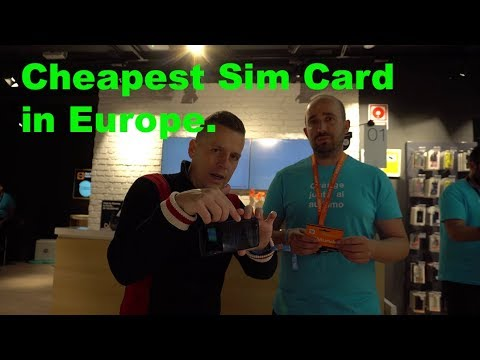 Cheapest Sim Card In Europe! Phone And Internet Abroad For Pennies. 4K