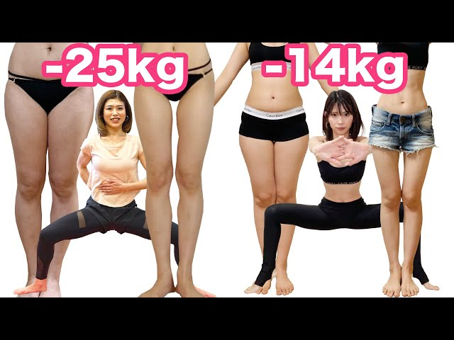 [-25kgと-14kg] はるなとなつきの減量筋トレ! Lunge workout for lose weight