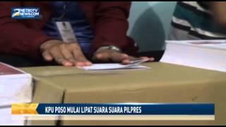 KPU Poso Mulai Lipat Surat Suara Pilpres