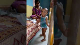 Funny scene of baby potty, cute baby, cleaver baby, baby's potty time