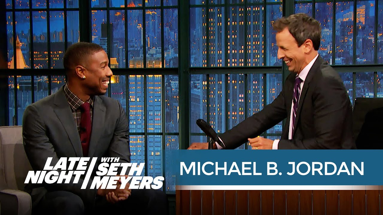 Michael B. Jordan on Starring in Fantastic Four - Late Night with ...