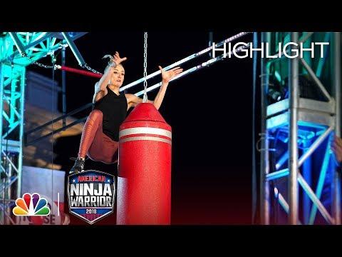 Nastia Liukin's Ninja Warrior Run for Red Nose Day - American Ninja Warrior 2018