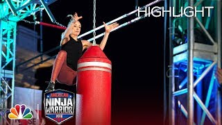 Nastia Liukin's Ninja Warrior Run for Red Nose Day - American Ninja Warrior 2018