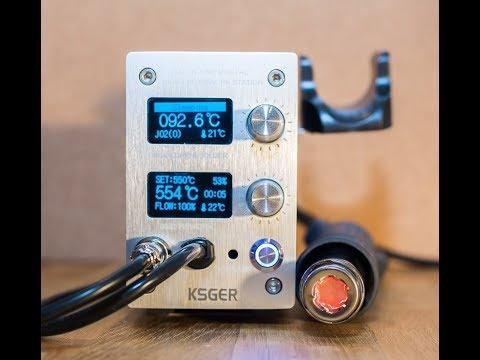 KSGER Термовоздушная паяльная станция на STM32 и с жалами Hakko T12, тест работы паяльника и фена
