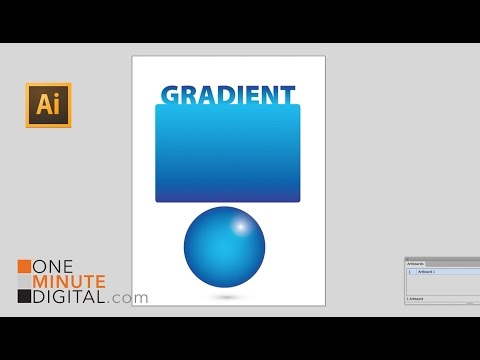 Beginner's Gradient Tool Sphere and Type Tutorial in Illustrator CS6