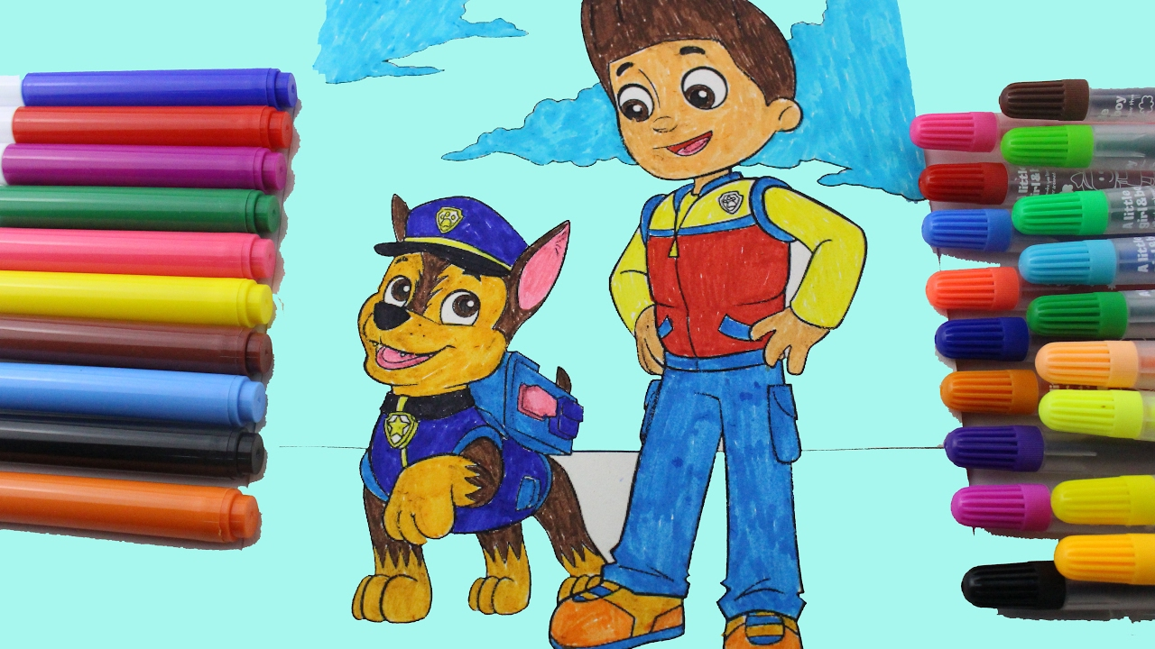 Paw Patrol PUPS Chase Skye Zuma Coloring Pages Mary Had A Little Lamb Nursery Rhyme With Lyrics