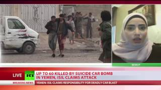 Yemen blast: ISIS kills up to 60 in suicide car bombing in Aden