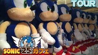 Tour guide of Sonic The Hedgehog Cafe 25th Anniversary in Tokyo Japan