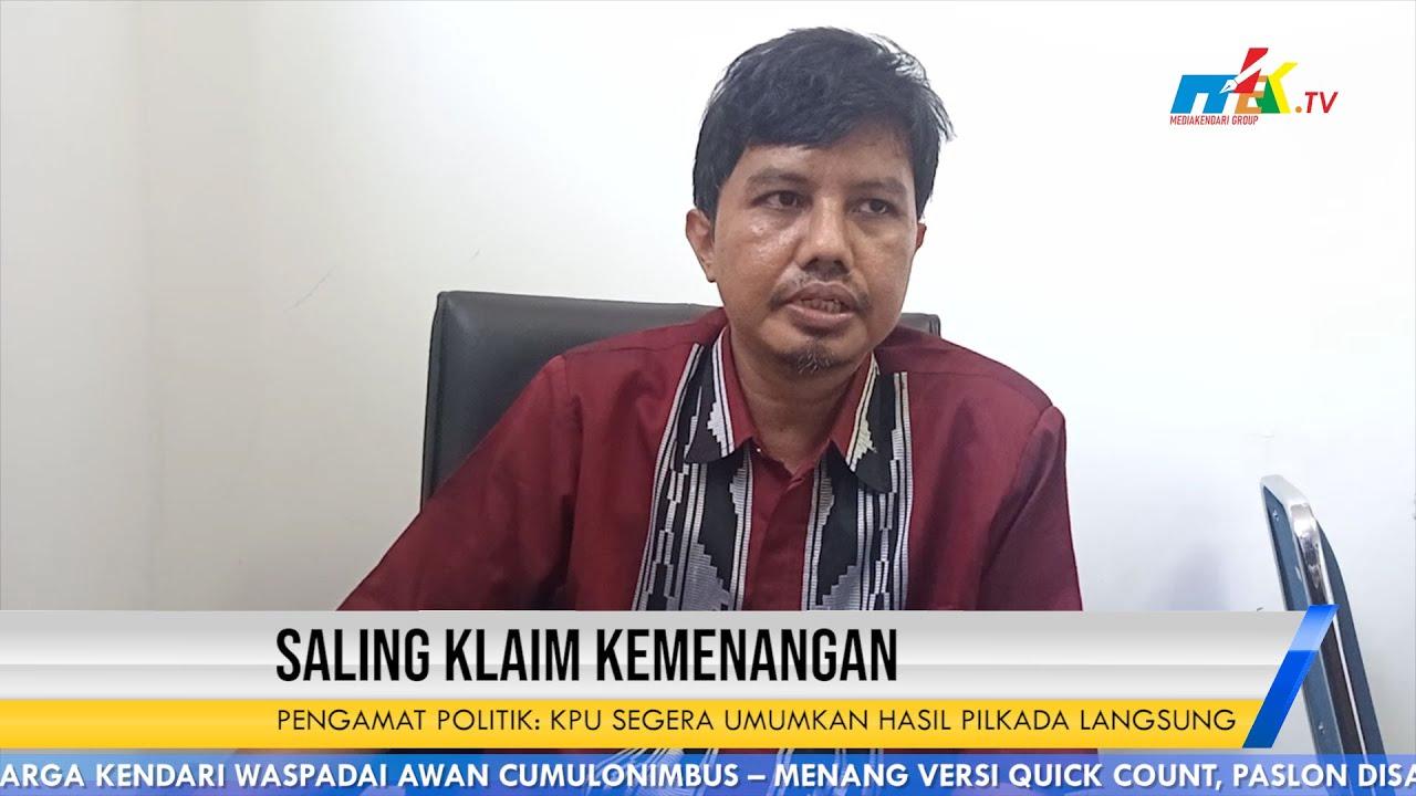 Saling Klaim Kemenangan Pengamat Politik : KPU Segera Umumkan Hasil Pilkada Langsung