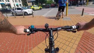 Нередности на велоалеи, коли и пешеходци.