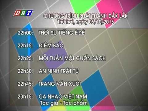 Testcard - Hình hiệu - Giới thiệu chương trình phát thanh và truyền hình Đăklăk