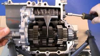 Motorradgetriebe bei der Arbeit