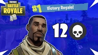 Fortnite Battle Royale: NO-SKIN GETS 12 KILLS - Fortnite Victory
