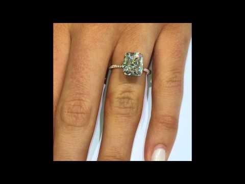 5 carat Cushion Diamond Engagement Ring