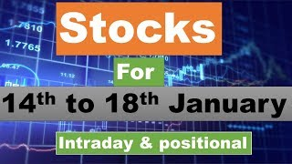 Stocks for 14th to 18th January 2018; intraday and positional