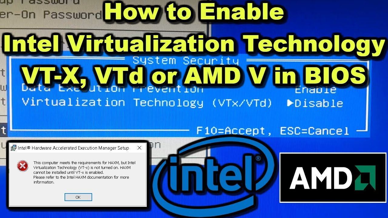 How to Enable Intel Virtualization Technology VT X, VTd or