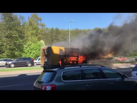 Car on fire in Tallinn part 3.