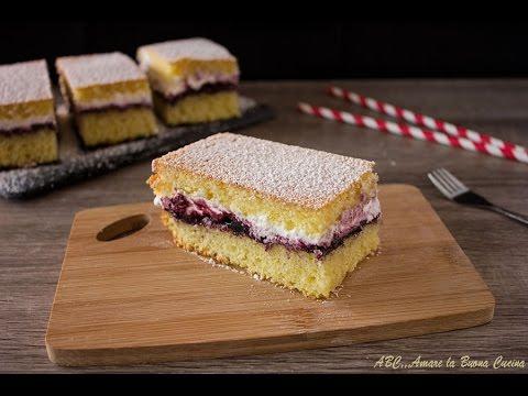 Torta Soffice Con Panna E Marmellata Youtube