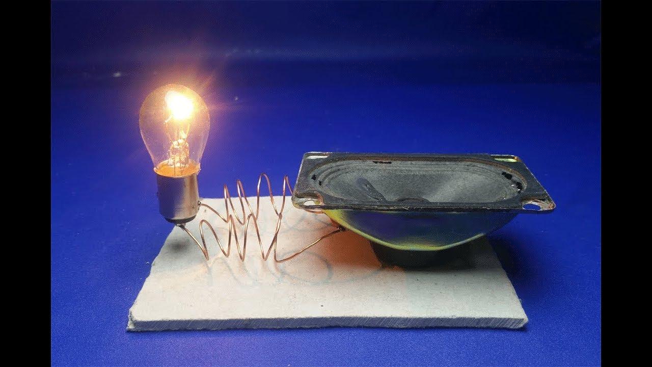 Speaker Magnet With Light Bulb 12V , Free Energy Generator ...