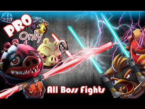 Angry Birds Star Wars 2: Part-1 All Boss Fights [Naboo Invasion-Escape to Tatooine-Battle of Naboo]