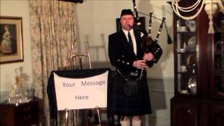 Download Personalized Bagpipe Greetings! MP3 song and Music Video