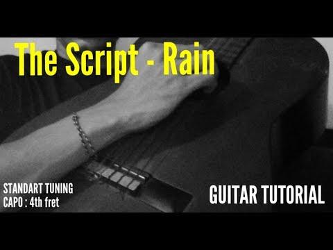 The Script - Rain (guitar tutorial)