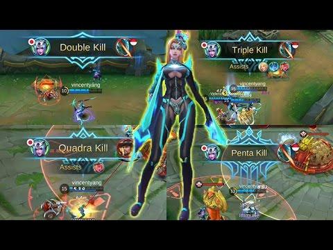 Mobile Legends - Insane Karina Double Triple Quadra Penta Kill Montage With Builds